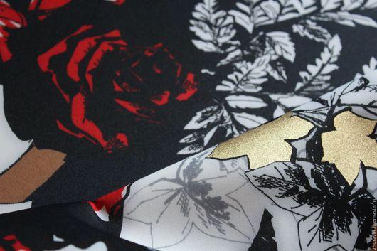 Шитье ручной работы. Ярмарка Мастеров - ручная работа. Купить Неопрен  Blumarine Оригинал !!!!. Handmade. Черный, ткани Италии