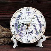 """Для дома и интерьера ручной работы. Ярмарка Мастеров - ручная работа Часы """"Лаванда"""". Handmade."""