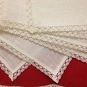 Для дома и интерьера handmade. Livemaster - original item 6pcs napkins linen
