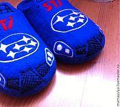 """Обувь ручной работы. Ярмарка Мастеров - ручная работа Тапочки """"Субару"""". Handmade."""