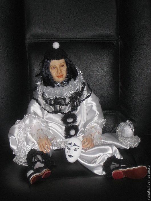 Портретные куклы ручной работы. Ярмарка Мастеров - ручная работа. Купить Пьеро. Портретная кукла.. Handmade. Проскульпт, кружева
