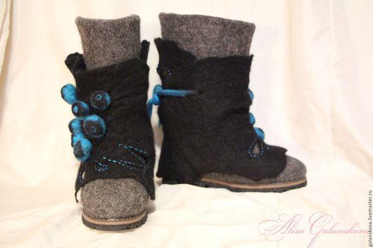 Обувь ручной работы. Ярмарка Мастеров - ручная работа. Купить Валенки 3 в 1 !. Handmade. Комбинированный, валенки на подошве