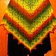 """Шали, палантины ручной работы. Ярмарка Мастеров - ручная работа. Купить Шаль ручной вязки """"Осенний лес"""". Handmade. желтый"""