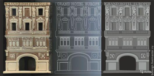Перевдение в векторное изображение сканированной скульптуры для последующей гравировки и создание формы для шоколада