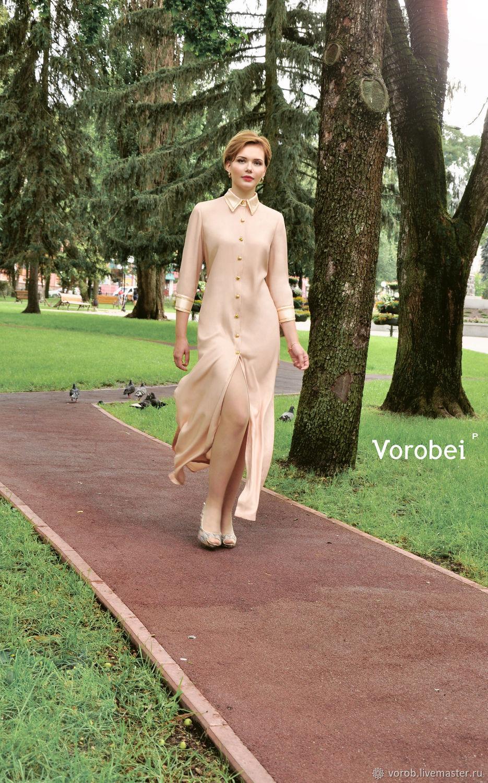 Платье хлопковое с разрезами, Платья, Москва,  Фото №1