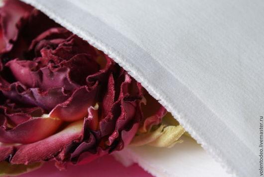 Ткань для цветов ручной работы. Ярмарка Мастеров - ручная работа. Купить Ткань для цветоделия Бархат. Handmade. Белый, цветоделие