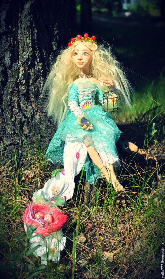 """Коллекционные куклы ручной работы. Ярмарка Мастеров - ручная работа. Купить кукла """"ВЕСНА"""". Handmade. Нежность, роскошный подарок, кружево"""