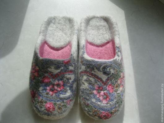 """Обувь ручной работы. Ярмарка Мастеров - ручная работа. Купить Тапочки-шлепанцы  """"Утро"""". Handmade. Тапочки, лоскут ппп"""