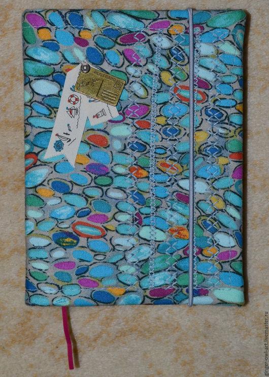 """Блокноты ручной работы. Ярмарка Мастеров - ручная работа. Купить Блокнот """"Магия морских камней"""". Handmade. Синий, полоски"""