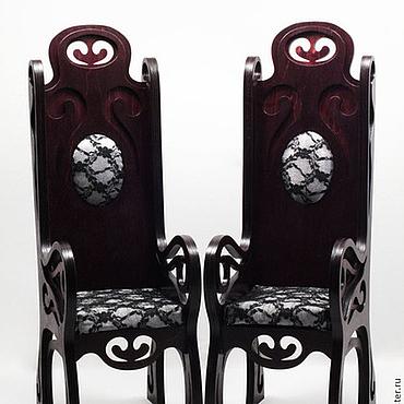 Куклы и игрушки ручной работы. Ярмарка Мастеров - ручная работа Кресло с высокой спинкой (модель 02). Handmade.