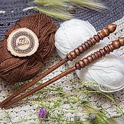 Материалы для творчества handmade. Livemaster - original item Wooden knitting needles 8mm/305#1. Handmade.