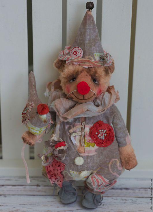 Мишки Тедди ручной работы. Ярмарка Мастеров - ручная работа. Купить Клоун Бим. Handmade. Бежевый, авторская игрушка