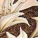 """Картины цветов ручной работы. Объемная фреска """"Лилии"""". Floritolla. Ярмарка Мастеров. Модульная картина, структурная паста, акриловый спрей"""
