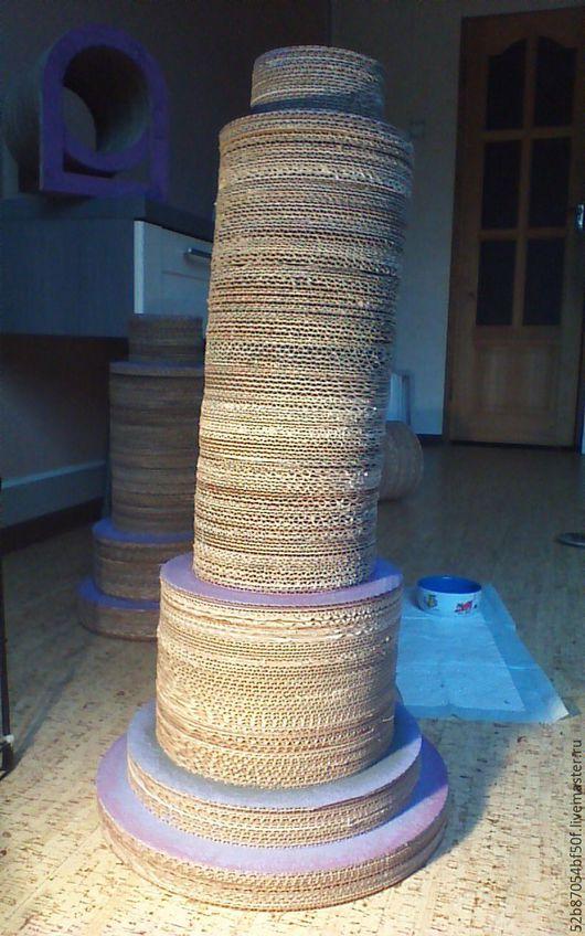 Аксессуары для кошек, ручной работы. Ярмарка Мастеров - ручная работа. Купить когтеточка «пизанская башня». Handmade. Башня, пушистые, коготь