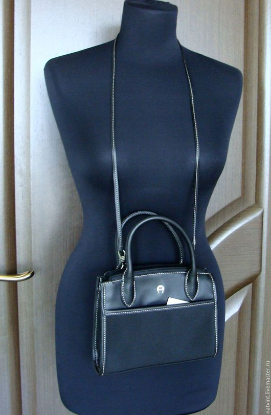 Винтажная одежда и аксессуары. Ярмарка Мастеров - ручная работа. Купить Etienne Aigner, маленькая сумочка из искусственной кожи. Handmade. Черный