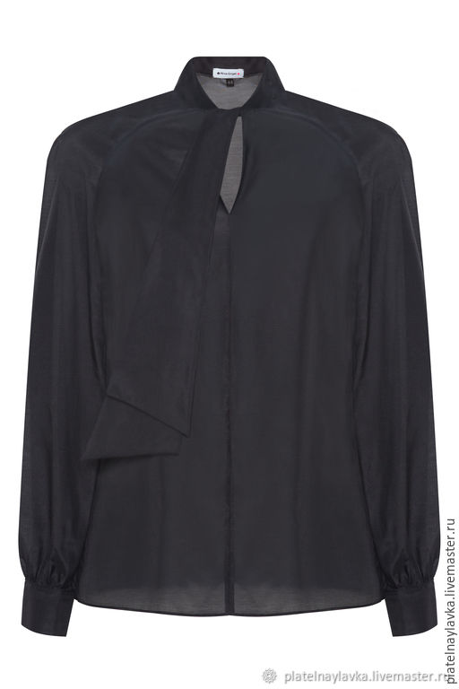 Черная блузка с декоративным бантом на шее, Блузки, Москва,  Фото №1