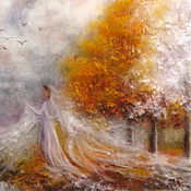 Картины и панно handmade. Livemaster - original item Picture of wool Winter bride white.... Handmade.