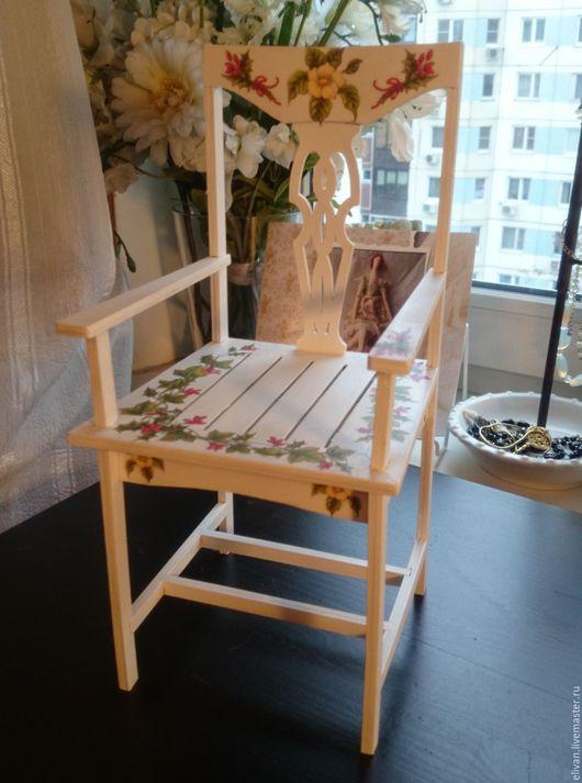 Кукольный дом ручной работы. Ярмарка Мастеров - ручная работа. Купить стульчик для куклы. Handmade. Белый, аксессуары для кукол