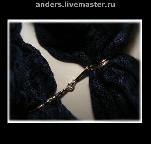 Кольца ручной работы. Ярмарка Мастеров - ручная работа. Купить кольцо для платка аля Hermes. Handmade. Кольцо для платка