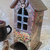 """Для дома и интерьера ручной работы. Ярмарка Мастеров - ручная работа Чайный домик """"Ждем гостей"""". Handmade."""