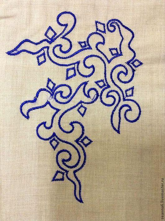 """Этно ручной работы. Ярмарка Мастеров - ручная работа. Купить Вышивка, вышитая картинка, картина, панно """"Китайское облако"""". Handmade."""
