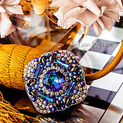 Украшения handmade. Livemaster - original item Brooch beads. Blue brooch. Bermuda. A beaded brooch. Brooch on your coat. Handmade.