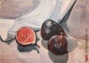 """Натюрморт ручной работы. Ярмарка Мастеров - ручная работа. Купить картина, """"Инжир"""", масло, натюрморт. Handmade. Картина, инжир"""