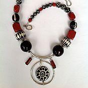 Украшения handmade. Livemaster - original item Necklace ethnic beads made from natural materials Magic Lights... Handmade.