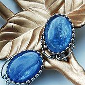 Украшения handmade. Livemaster - original item Earrings: with natural kyanite