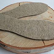 Обувь ручной работы handmade. Livemaster - original item Insoles made from 100% linen