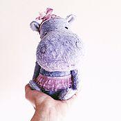 Куклы и игрушки ручной работы. Ярмарка Мастеров - ручная работа Тедди Бегемотик.. Handmade.