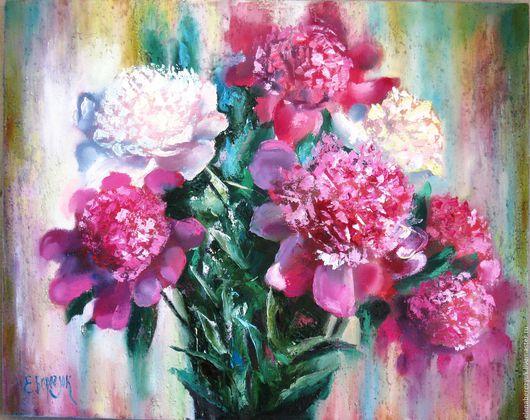 Картины цветов ручной работы. Ярмарка Мастеров - ручная работа. Купить Пионы картина маслом на холсте, картины цветов,цветков. Handmade.