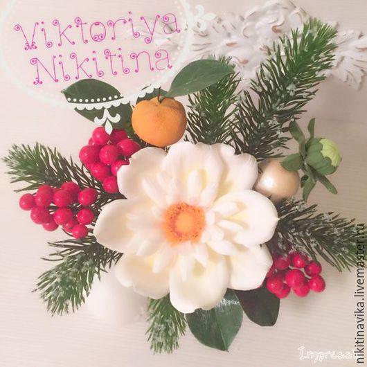 Новогодняя композиция ` Новинка этого года` Автор Виктория Никитина