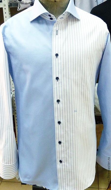 Для мужчин, ручной работы. Ярмарка Мастеров - ручная работа. Купить Рубашка (И такое заказывают:) ). Handmade. Голубой