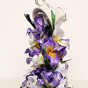 "Цветы и флористика handmade. Livemaster - original item Cup in air сalled ""Irises"". Handmade."