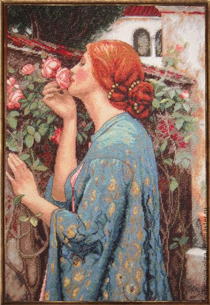 Люди, ручной работы. Ярмарка Мастеров - ручная работа. Купить Душа розы. Handmade. Картина для интерьера, розы