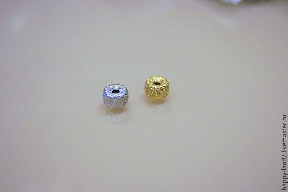 Для украшений ручной работы. Ярмарка Мастеров - ручная работа. Купить Бусина рондель сахарная, 8х5 мм, 2 цвета Южная Корея. Handmade.