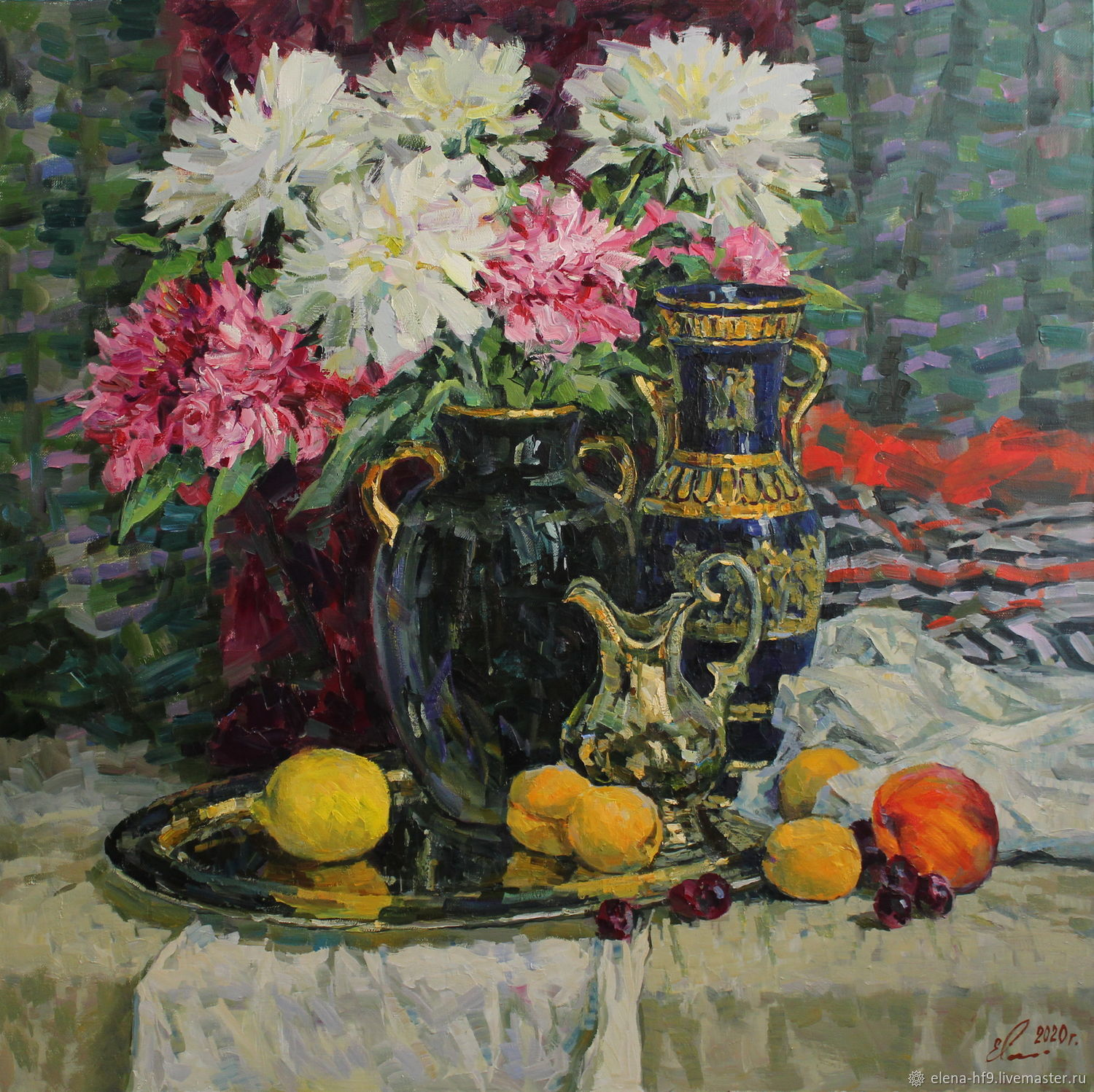 A picture.Peonies and fruits, Pictures, St. Petersburg,  Фото №1