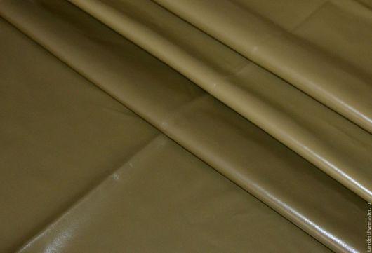 Шитье ручной работы. Ярмарка Мастеров - ручная работа. Купить Темно-оливковая Натуральная кожа 0,6 мм (10). Handmade.