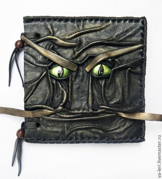"""Блокноты ручной работы. Ярмарка Мастеров - ручная работа. Купить Блокнот """"Взгляд Дракона"""". Handmade. Дракон, блокнот, кожа, Глаза"""