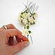 Свадебные украшения ручной работы. Цветы для прически на шпильках. Юлия Шепелева Lovely Flowers Lab. Ярмарка Мастеров. Персиковый цвет