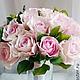 """Свадебные цветы ручной работы. Заказать Свадебный букет """"19 нежных роз"""" для участницы телепроекта ДОМ 2 Алианы. Victoria Flowers (Виктория Зверева). Ярмарка Мастеров."""