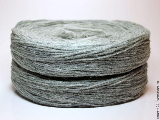 Вязание ручной работы. Ярмарка Мастеров - ручная работа. Купить Ровница (ангора), серая, вес 250 гр. Handmade. Серый
