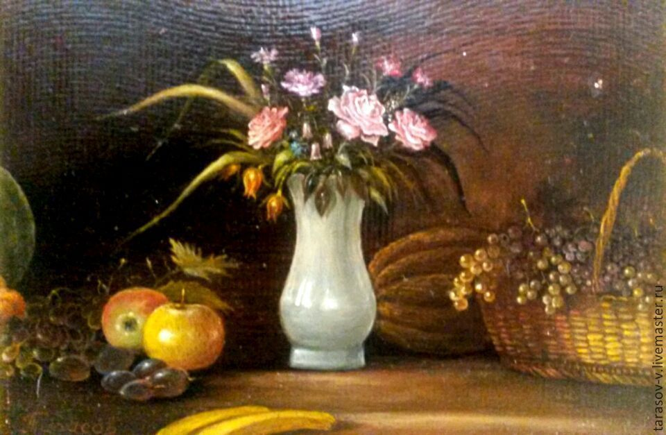 Author's painting still life with flowers and fruit, Pictures, Moscow,  Фото №1