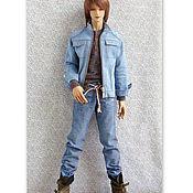 Куклы и игрушки ручной работы. Ярмарка Мастеров - ручная работа Одежда для кукол БЖД  SID man Iplehouse Комплект в джинсовом стиле. Handmade.