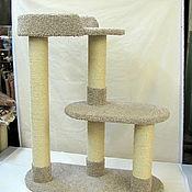 Для домашних животных, ручной работы. Ярмарка Мастеров - ручная работа Домик для кошек Овал купить. Комплекс подходит крупным кошкам.. Handmade.