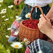 Одежда ручной работы. Ярмарка Мастеров - ручная работа Маме и дочке Белый с красным юбки в цветочек. Handmade.