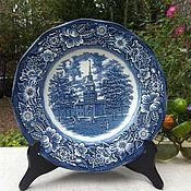Винтаж handmade. Livemaster - original item Porcelain plate