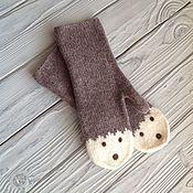 Аксессуары handmade. Livemaster - original item A copy of the work Mittens knitted felted. Handmade.