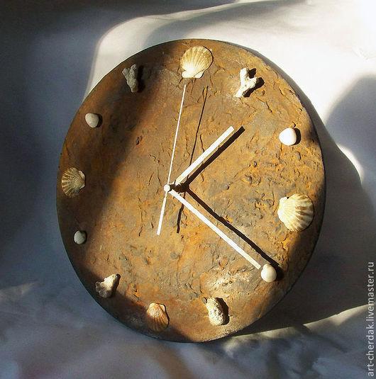 """Часы для дома ручной работы. Ярмарка Мастеров - ручная работа. Купить Часы настенные """"Не все корабли возвращаются в гавань"""". Handmade."""